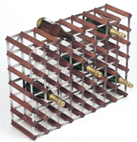 RTA 56 Bottle Stained Pine Wine Rack Kit WINE0035